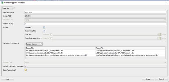 SQL_DEV_CLONE_PDB