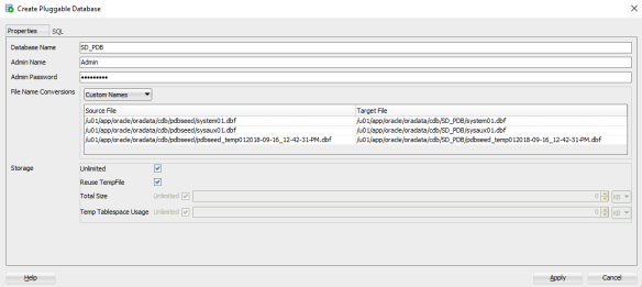 SQL_DEV_CREATE_PDB