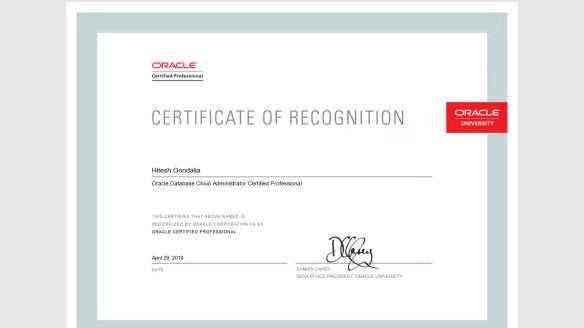 Oracle Databasse Cloud Administrator